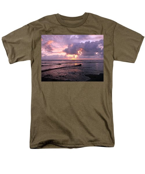 Men's T-Shirt  (Regular Fit) featuring the photograph Purple Pink Sunset by Athena Mckinzie