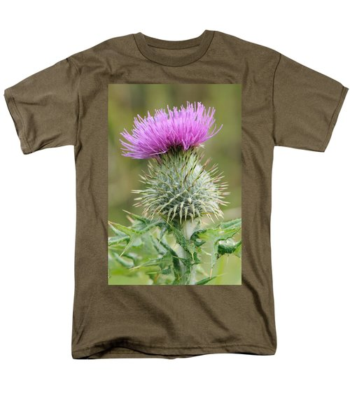 Men's T-Shirt  (Regular Fit) featuring the photograph Purple Thistle by Jeremy Voisey