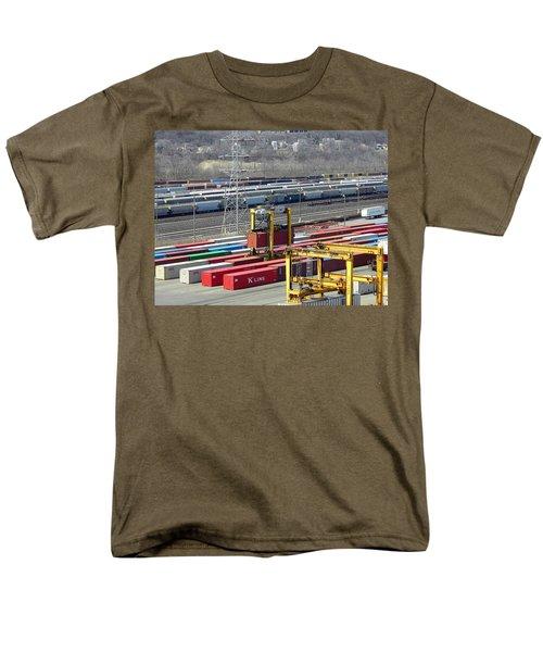 Queensgate Yard Cincinnati Ohio Men's T-Shirt  (Regular Fit) by Kathy Barney