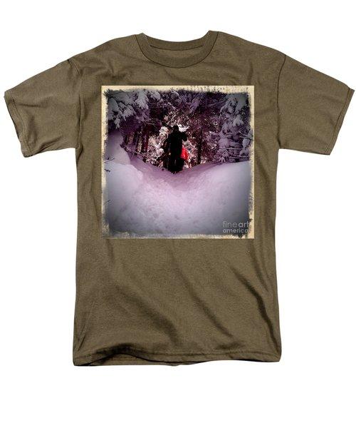 Men's T-Shirt  (Regular Fit) featuring the photograph Quest For Powder by James Aiken