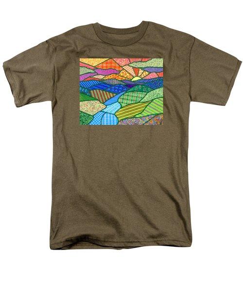 Quilted Appalachian Sunset Men's T-Shirt  (Regular Fit) by Jim Harris