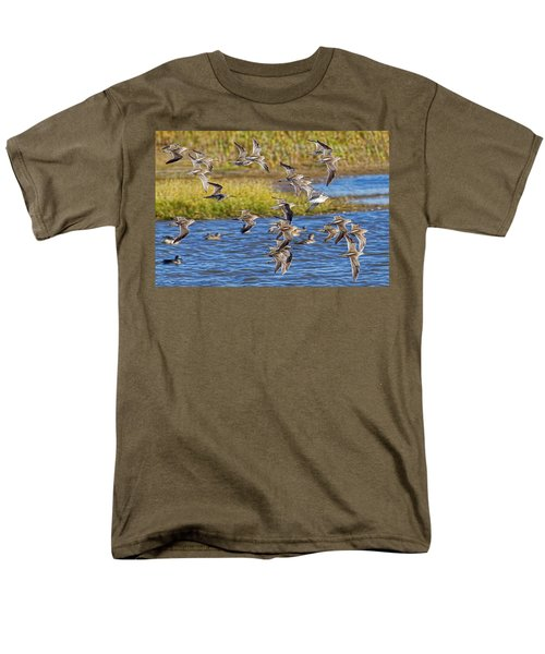 Men's T-Shirt  (Regular Fit) featuring the photograph Racing Stripes by Gary Holmes