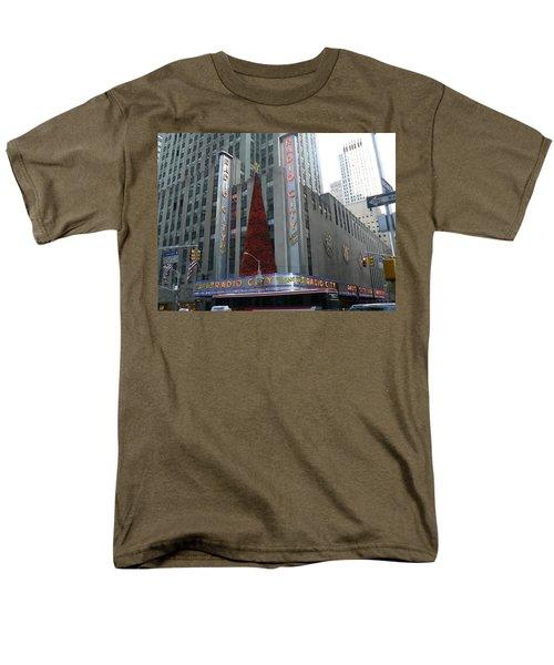 Radio City Christmas Men's T-Shirt  (Regular Fit) by Michael Porchik