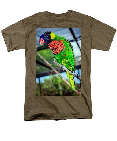 Men's T-Shirt  (Regular Fit) featuring the photograph Rainbow Lory by Sennie Pierson