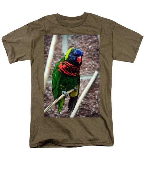 Men's T-Shirt  (Regular Fit) featuring the photograph Rainbow Lory Too by Sennie Pierson