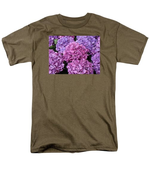 Men's T-Shirt  (Regular Fit) featuring the photograph Rainy Day Flowers by Ira Shander