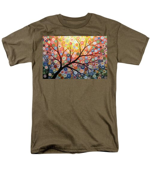 Men's T-Shirt  (Regular Fit) featuring the painting Reaching For The Light by Amy Giacomelli