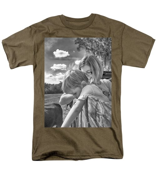 Men's T-Shirt  (Regular Fit) featuring the photograph Reaching by Howard Salmon