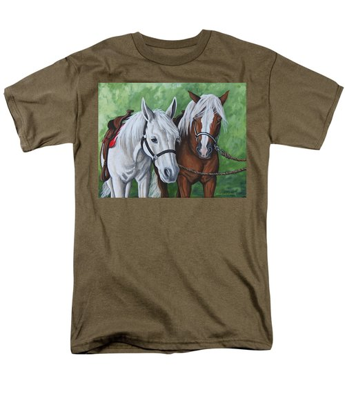 Men's T-Shirt  (Regular Fit) featuring the painting Ready To Ride by Penny Birch-Williams