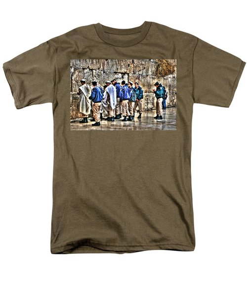 Men's T-Shirt  (Regular Fit) featuring the photograph Real Homeland Security In Israel by Doc Braham