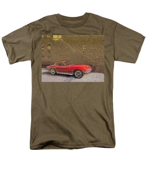 Red Corvette Men's T-Shirt  (Regular Fit) by Steve Karol