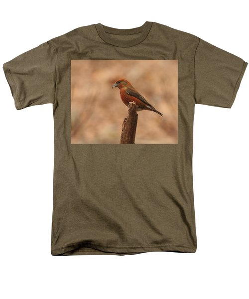 Red Crossbill Men's T-Shirt  (Regular Fit) by Charles Owens
