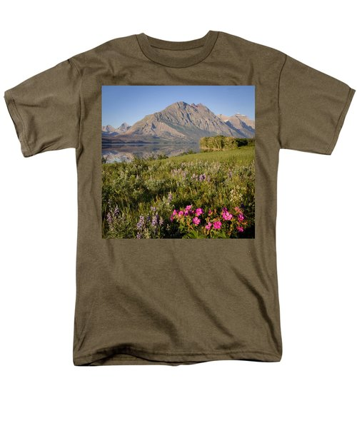 Men's T-Shirt  (Regular Fit) featuring the photograph Red Eagle Mountain by Jack Bell