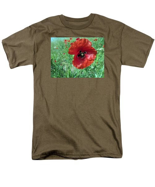 Men's T-Shirt  (Regular Fit) featuring the photograph Red Poppy by Vesna Martinjak