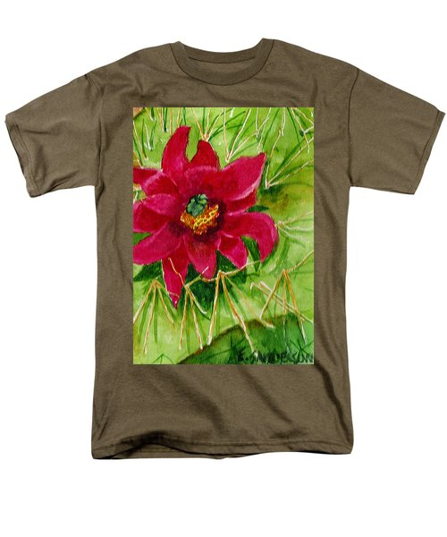 Red Prickly Pear Men's T-Shirt  (Regular Fit) by Eric Samuelson
