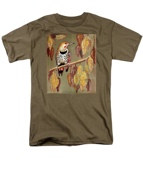 Red Shafted Flicker Men's T-Shirt  (Regular Fit) by VLee Watson