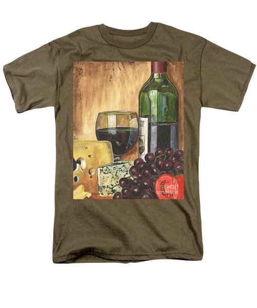 Red Wine And Cheese Men's T-Shirt  (Regular Fit)