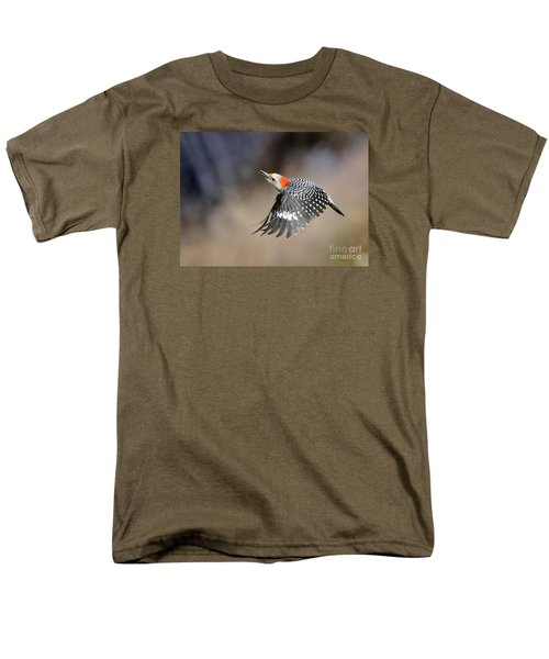 Redbelly Woodpecker Flight Men's T-Shirt  (Regular Fit) by Nava Thompson