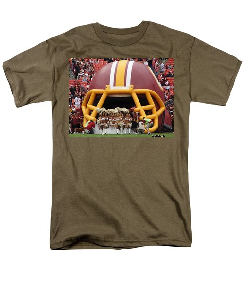 Redskins Cheerleaders Men's T-Shirt  (Regular Fit) by Natalie Ortiz