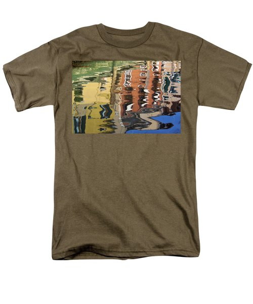 Reflection In A Venician Canal Men's T-Shirt  (Regular Fit) by Ron Harpham
