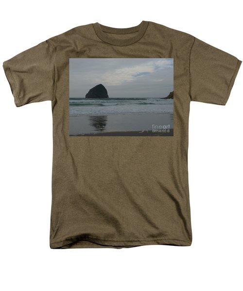 Men's T-Shirt  (Regular Fit) featuring the photograph Reflection Of Haystock Rock  by Susan Garren