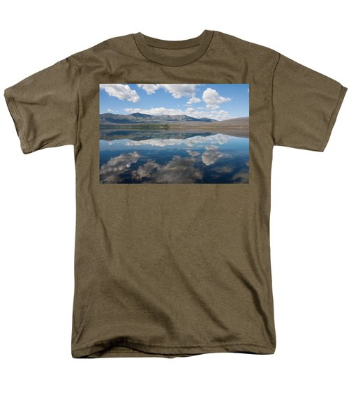 Men's T-Shirt  (Regular Fit) featuring the photograph Reflections At Glacier National Park by John M Bailey