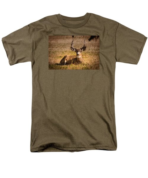 Men's T-Shirt  (Regular Fit) featuring the photograph Relaxing Buck by Janis Knight