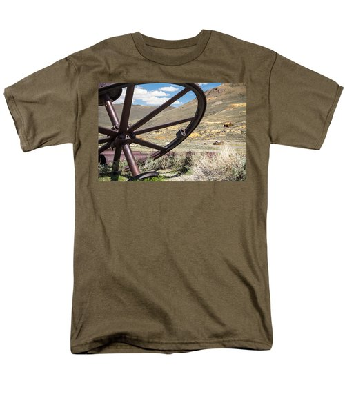 Men's T-Shirt  (Regular Fit) featuring the photograph Relics Of Bodie by Steven Bateson
