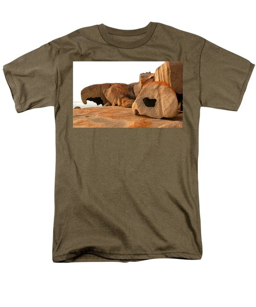 Men's T-Shirt  (Regular Fit) featuring the photograph Remarkable Rocks by Evelyn Tambour