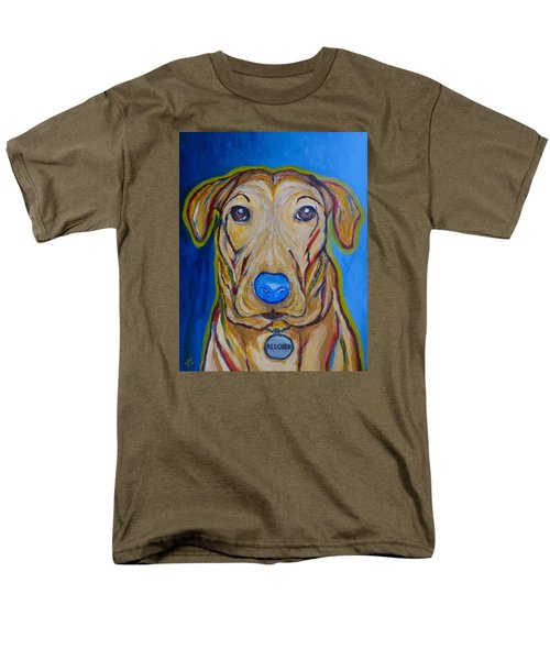 Men's T-Shirt  (Regular Fit) featuring the painting Rescued by Victoria Lakes