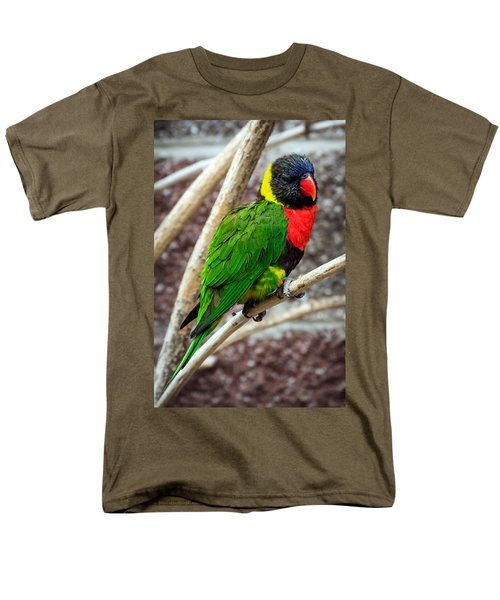 Men's T-Shirt  (Regular Fit) featuring the photograph Resting Lory by Sennie Pierson