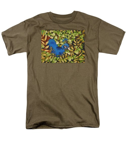 Resting Peacock Men's T-Shirt  (Regular Fit) by Katherine Young-Beck