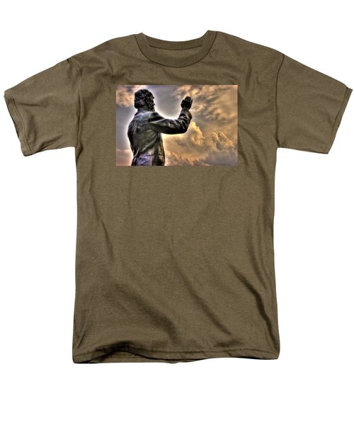 Rev. Father William E. Corby C S C - Blessing The Troops Of The 88th New York Infantry Irish Brigade Men's T-Shirt  (Regular Fit) by Michael Mazaika