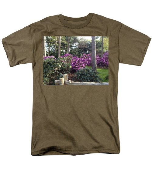 Rhododendron Garden Men's T-Shirt  (Regular Fit) by Pema Hou