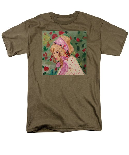 Men's T-Shirt  (Regular Fit) featuring the painting Ribbons And Roses by Mary Carol Williams