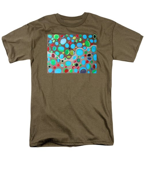 Men's T-Shirt  (Regular Fit) featuring the painting Riches Of People On Earth  by Lorna Maza
