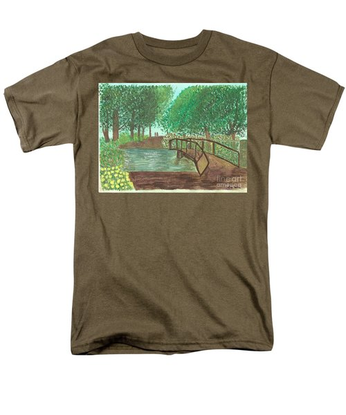 Men's T-Shirt  (Regular Fit) featuring the painting Riding Through The Woods by Tracey Williams