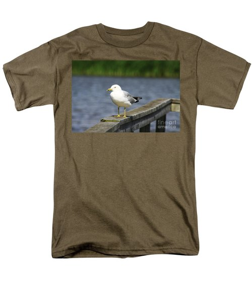 Men's T-Shirt  (Regular Fit) featuring the photograph Ring-billed Gull by Alyce Taylor