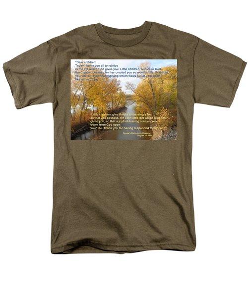 Men's T-Shirt  (Regular Fit) featuring the photograph River Of Joy by Christina Verdgeline