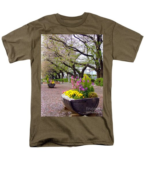 Road Of Flowers Men's T-Shirt  (Regular Fit) by Andrea Anderegg
