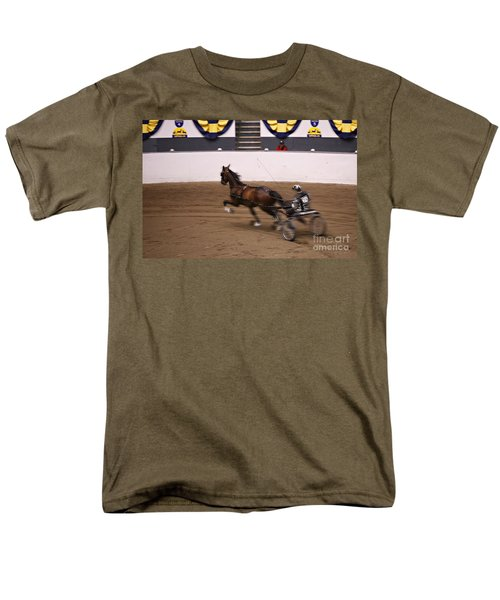 Men's T-Shirt  (Regular Fit) featuring the photograph Road Pony At Speed by Carol Lynn Coronios