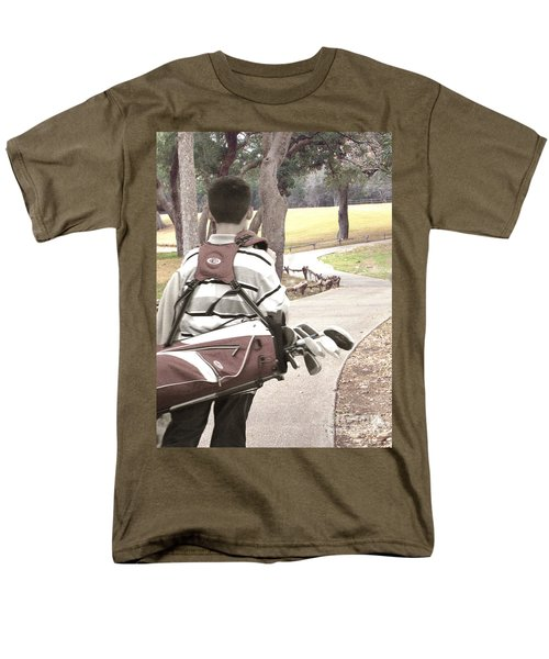 Men's T-Shirt  (Regular Fit) featuring the photograph Road To Success - Inspirational Art by Ella Kaye Dickey