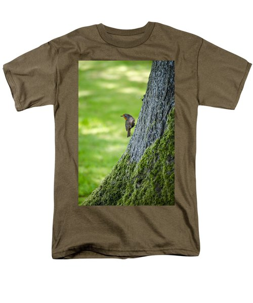 Robin At Rest Men's T-Shirt  (Regular Fit) by Spikey Mouse Photography