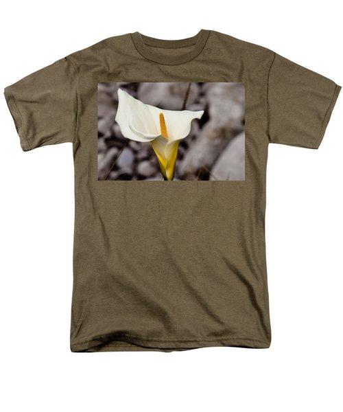 Rock Calla Lily Men's T-Shirt  (Regular Fit) by Melinda Ledsome