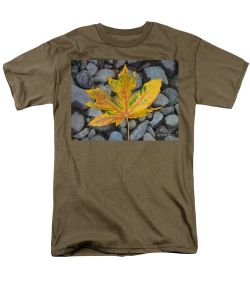 Men's T-Shirt  (Regular Fit) featuring the photograph Rock Creek Leaf by Chalet Roome-Rigdon