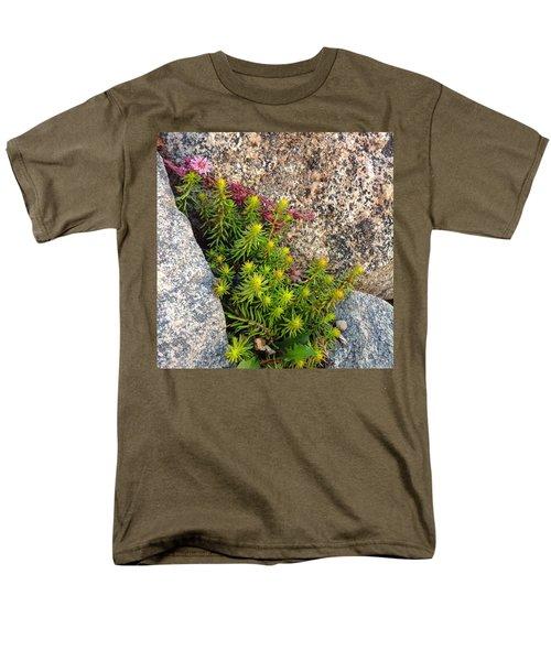 Men's T-Shirt  (Regular Fit) featuring the photograph Rock Flower by Meghan at FireBonnet Art