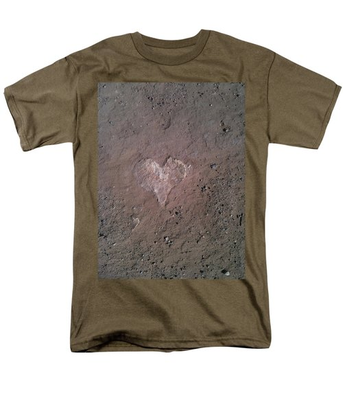 Rock Heart Men's T-Shirt  (Regular Fit) by Claudia Goodell