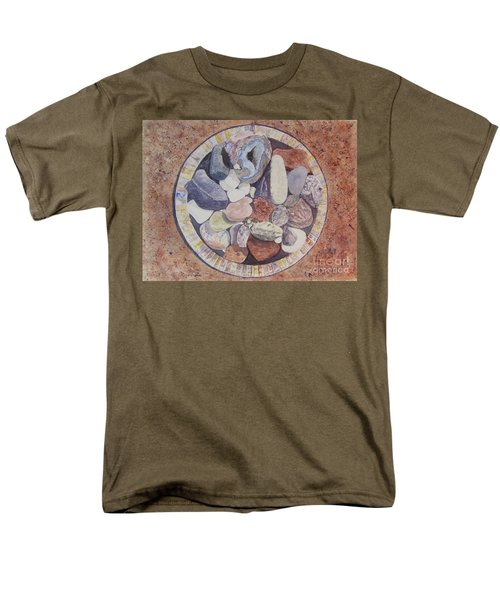 Men's T-Shirt  (Regular Fit) featuring the painting Rocks by Carol Flagg