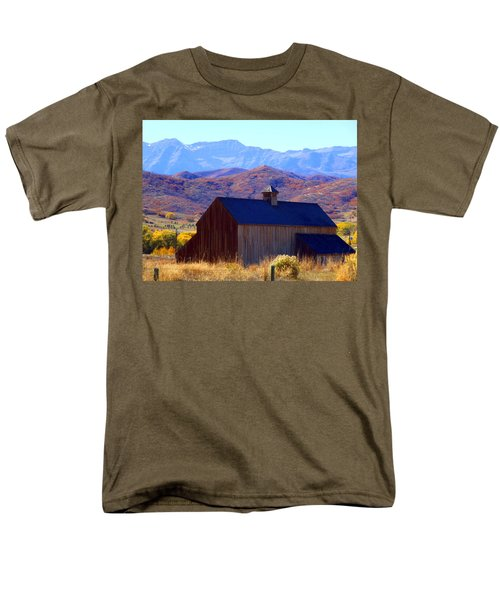 Men's T-Shirt  (Regular Fit) featuring the photograph Rocky Mountain Retreat by Jackie Carpenter