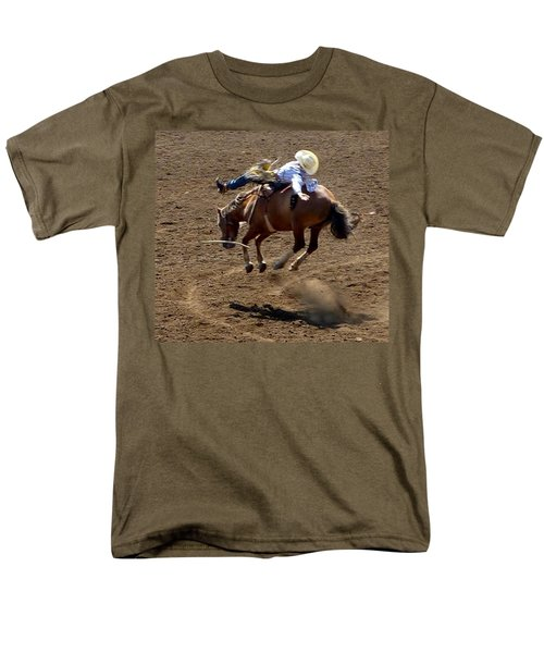 Rodeo Time Bucking Bronco 2 Men's T-Shirt  (Regular Fit) by Susan Garren